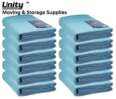 12 Pack Heavy duty Moving blankets Professional protection pads 72x80(65lb)#6257
