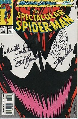 THE SPECTACULAR SPIDERMAN signed Marvel comic- creator - STAN LEE spidey art