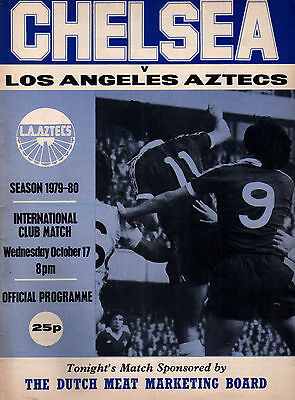 1979/80 Chelsea v Los Angeles Aztecs, friendly, PERFECT CONDITION