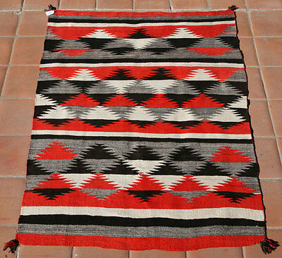 "Navajo Transitional Blanket, circa 1890, 76"" x 56"""