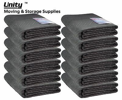 "12 Heavy duty Moving blankets Professional protection (60-65) 72x80"" #6258x12"