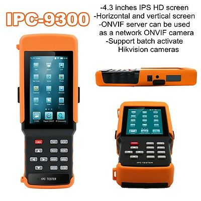 "IPC-9300 4.3""Handle Horizontal Vertical IPC Video Monitor Network Camera Tester"