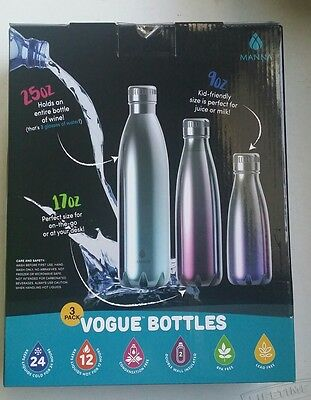 MANNA - Vogue Bottles, Double wall, Stainless steel, Vacuum Insulated