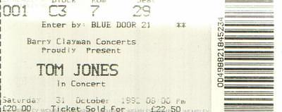 (16056) Tom Jones 1992 Wembley ticket
