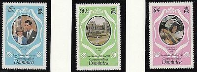 (71462) Dominica - Timbres Princesse Diana Mariage 1981 MNH