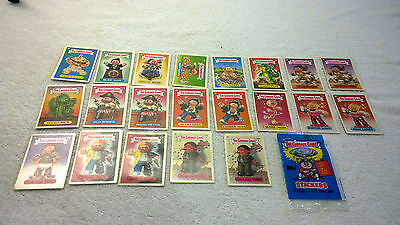 The Garbage Gang 1985 New Zealand Issue S2 21x Stickers & 1x Wrapper