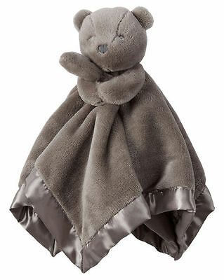 New Carter's Snuggle Buddy Brown Bear Security Blanket Soft Cute NWT Boy Girl