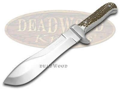 HEN & ROOSTER AND Genuine Deer Stag Fixed Blade Skinner Stainless Knife Knives