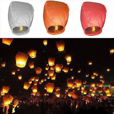 COOL 1PC Chinese Lanterns Sky Fire Fly Candle Lamp for Wish Party Wedding