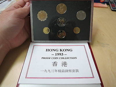 1993 Hong Kong Proof Coin Collection Set Beautiful Proof Set with COA