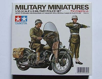 Military Miniatures U.s. Military Police Harley Model & 2 Officers New Free Post