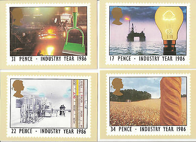 (05794) PHQ postcards mint: 1986 Industry Year Oil Rig Farming