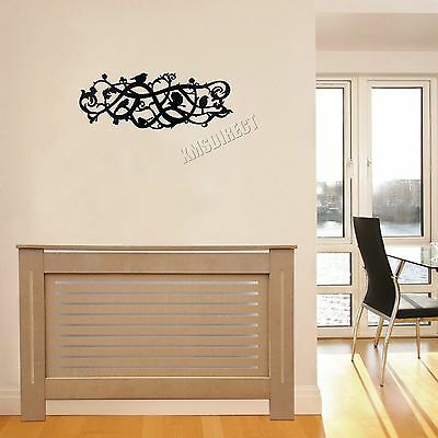 FoxHunter Natural Painted Radiator Cover Wall Cabinet Wood MDF Modern Home Small