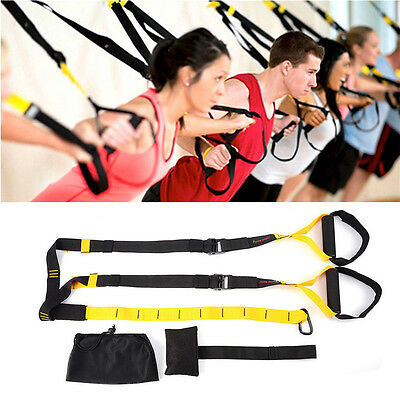 Suspension Trainer Training Straps Fitness Kit Strength Exercise Home Gym AL
