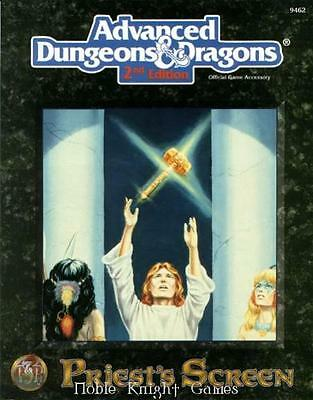 TSR AD&D 2nd Ed Priest's Screen Zip VG+