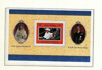 (74163) St Lucia Queen Golden Wedding 1997 Minisheet - MNH U/M Mint