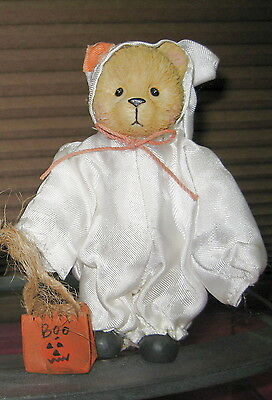 Halloween Teddy Bear Dressed as Ghost similar to Stacie 1994 You Lift My Spirit