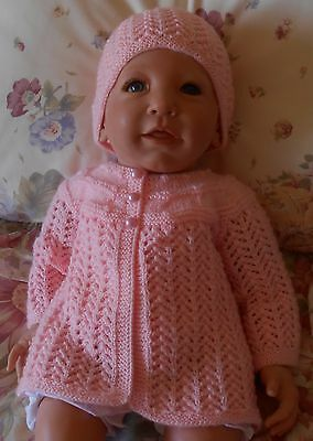 Pink Hand Knitted Outfit for Reborn or Baby