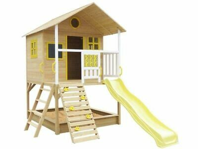 Lifespan Kids Warrigal Cubby House With Slide And Sandpit Backyard Yellow
