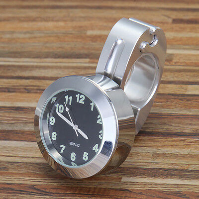 Aluminum Alloy Motorcycle Scooter Bike Handlebar Mount Clock Watches Vintage