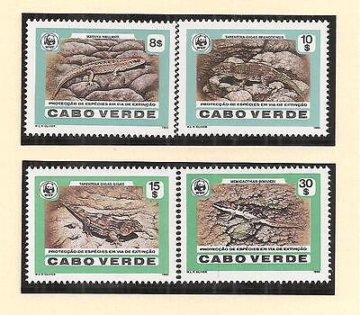 (70771) Cape Verde - Lizards - MNH U/M Mint 1988
