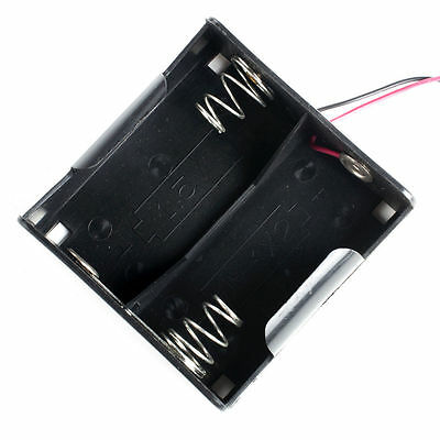 1pcs,2 x D Size Cell Battery Holder Box 3V Case With Wire Lead UM-1x2