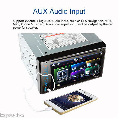 6.2'' 2 DIN Car DVD Bluetooth Stereo MP3 FM HD Player Touch screen USB/SD/AUX-IN
