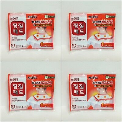 x 4 Baro Hot Pack Patch for NECK & SHOULDER 3 Cells Lasting 10 Hours 50 ~ 60℃