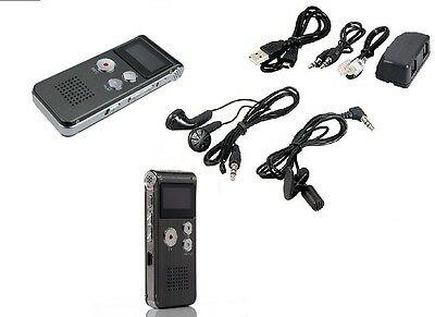 Registratore Audio Vocale Portatile Mp3 Usb Digitale Voice Recorder Memoria 8 Gi