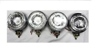 4 X 5 Inches Jeep / Car / Bike / Scooter Spot Light Clear Lens & Halogen Bulb