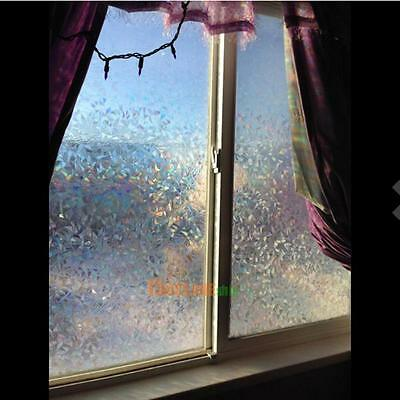 3d No Glue Static Cling Decorative Frosted Window Glass Films Privacy UV Protect