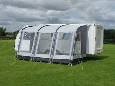 Kampa Rally 390 Awning - Caravan Porch Awning - Blue