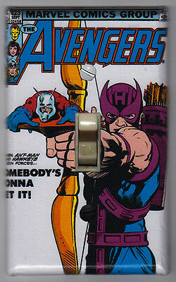 Avengers 223 Light Switch Cover Plate - Marvel Comics Hawkeye Ant Man