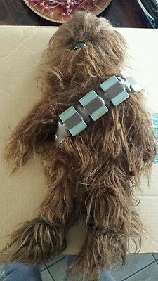 """STAR WARS CHEWBACCA 1977 Vintage Kenner Plush Toy 20"""" Complete With BELT !!"""