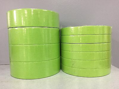 "3M Green 233+ 6 Rolls of 26334 3/4"" and 4 Rolls of 26338 1 1/2"" Masking Tape"