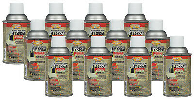 12 ct multipack Metered Insecticide Fly Spray Refill for Farm, Dairies & Kennels