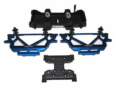 Losi Night Crawler Blue Chassis Plates, Battery Tray, Velcro Skid Trans Mount