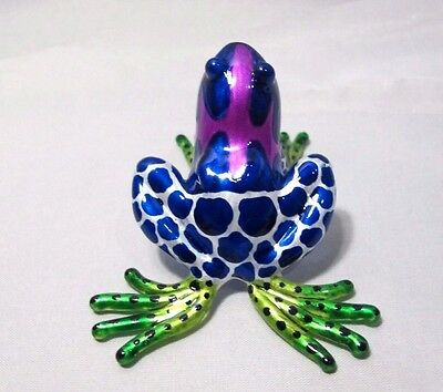 Lampwork Frog Hand Blown Glass Miniature Animal Art Figurine Collectible#38
