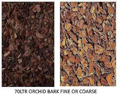 Orchid Reptile Bark 70 Ltr Bulk Sack Breeder Pack Fine Or Coarse Substrate