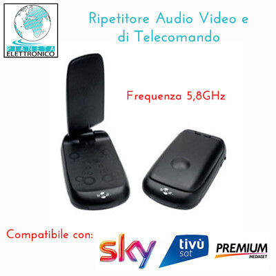 Ripetitore AUDIO VIDEO 5,8 Ghz con ripetitore Telecomando Incluso - MV 7230