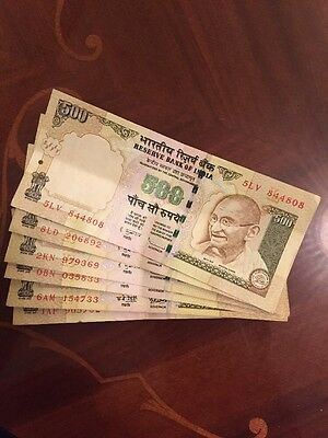 500 Rupee Reserve Bank Of India Bank Notes Original Genuine Rare Collectable
