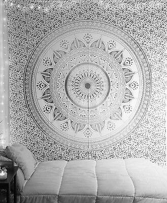 Twin Mandala Tapestry Indian Wall Hanging Bohemian Hippie Bedspread Throw Decor