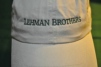 Lehman Brothers ~ Sports Cap ~ Soft & Comfy ~ Vintage ~ Embroidered & New!