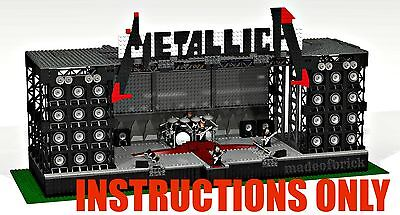 Custom Lego: Rock Concert Stage - Metallica - Instructions Only.no Parts.