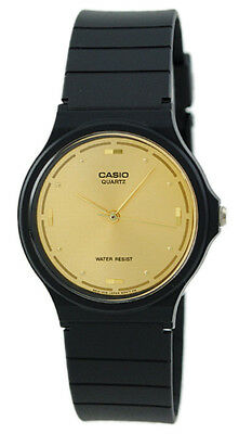 Casio Men's Analog Quartz Gold Tone Dial Black Resin Watch MQ76-9A