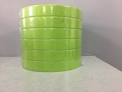 "3M 26334 3/4"" Green Scotch Masking Tape 233+ 18mm 6 Rolls Half Sleeve"