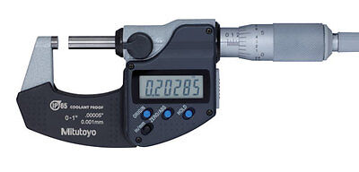 "Mitutoyo 293-340-30 Digimatic Outside Micrometer, 0-1"", .00005""/0.001mm -NEW"