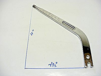 """11"""" Arched Rankin Chrome Shifter Handle Mid-Valley Jerico Tex 101A Race 121916-2"""