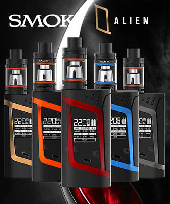 Smok Alien Kit 220W Authentic Mod  Box Only + Uk Stock Grey Our Red