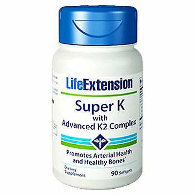Life Extension - Super K with Advanced K2 Complex (90 softgels), US-SELLER